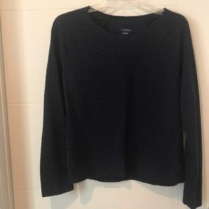NWOT XL Lightweight Navy sweater with black dots